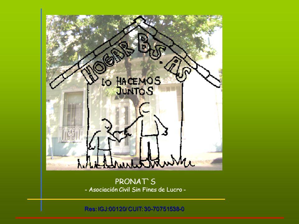 PRONAT`S - Asociación Civil Sin Fines de Lucro - Res: IGJ:00120/ CUIT: 30-70751538-0