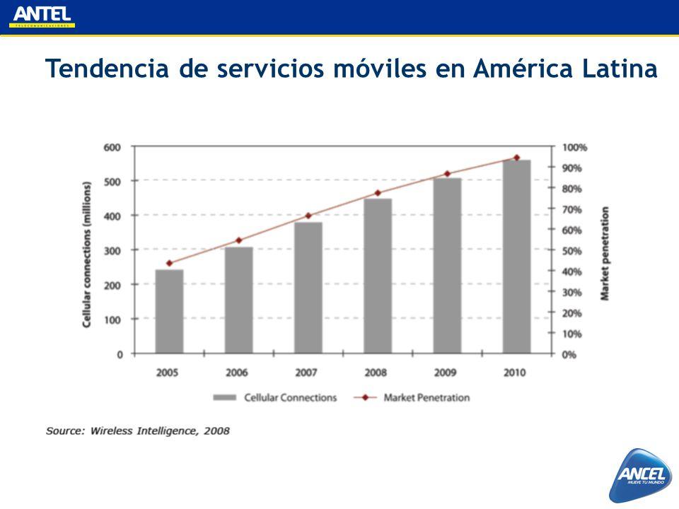 Tendencia de servicios móviles en América Latina