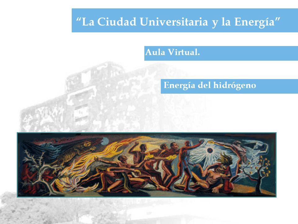 Aula Virtual. La Ciudad Universitaria y la Energía Energía del hidrógeno