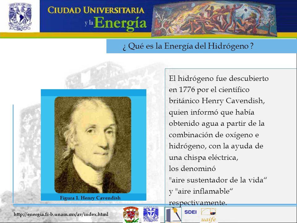¿ Qué es la Energía del Hidrógeno ? El hidrógeno fue descubierto en 1776 por el científico británico Henry Cavendish, quien informó que había obtenido