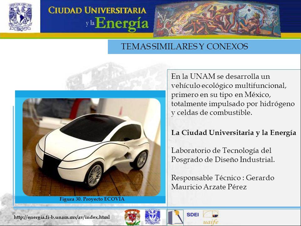 TEMAS SIMILARES Y CONEXOS En la UNAM se desarrolla un vehículo ecológico multifuncional, primero en su tipo en México, totalmente impulsado por hidróg