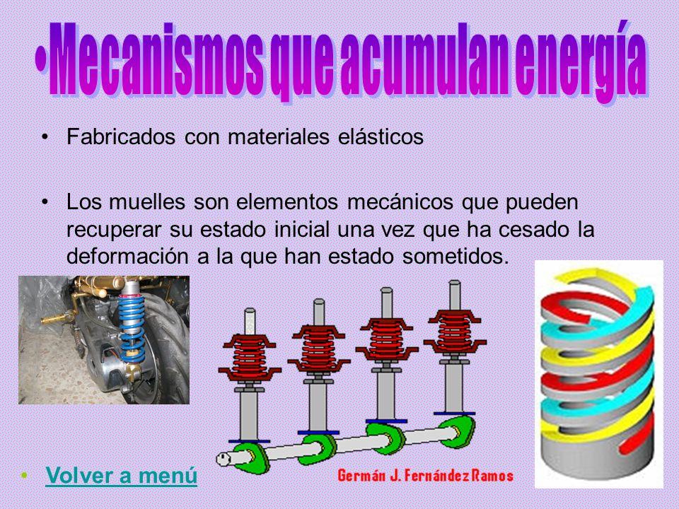 El tipo de movimiento que tiene el elemento de entrada del mecanismo (elemento conductor) coincide con el tipo de movimiento que tiene el elemento de salida (elemento conducido).