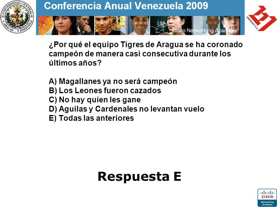 ¿Por qué el equipo Tigres de Aragua se ha coronado campeón de manera casi consecutiva durante los últimos años? A) Magallanes ya no será campeón B) Lo