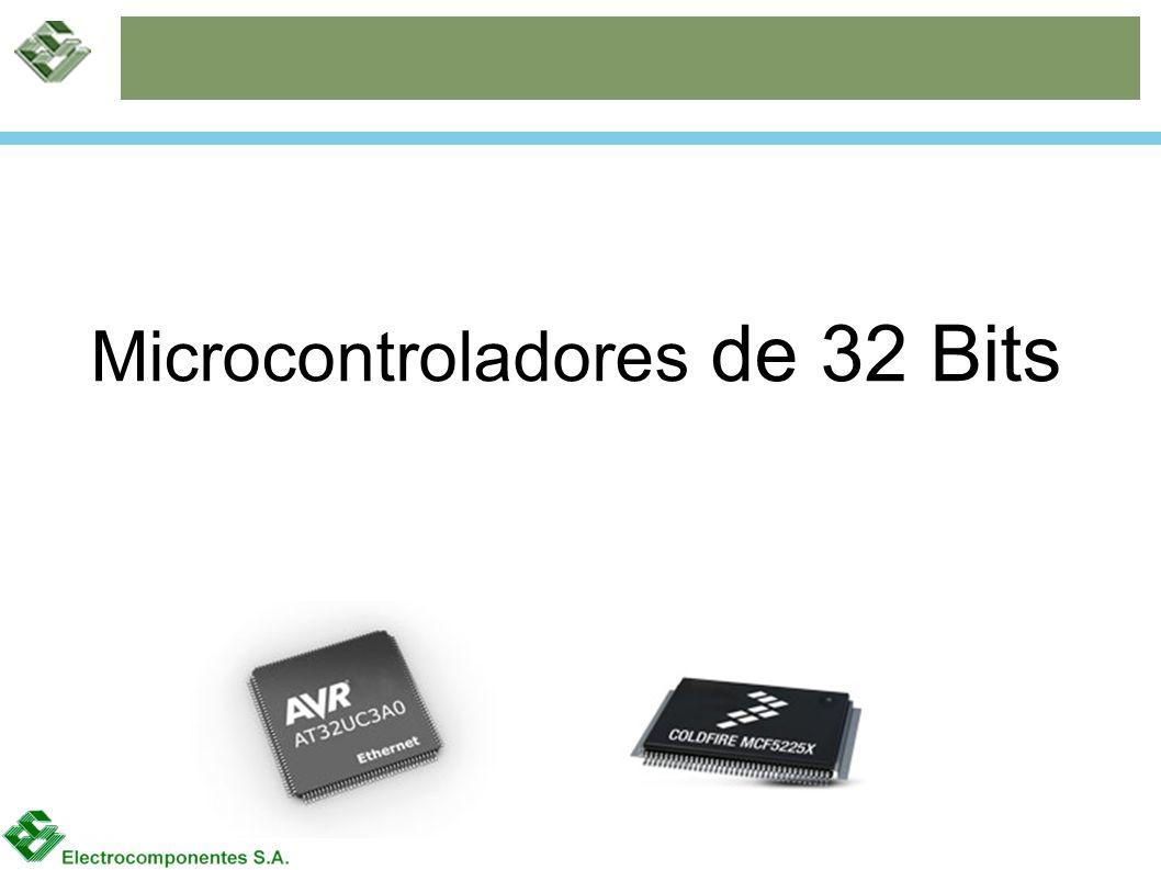 Familias ARM7 AT91SAM7 AT91SAM7L AT91SAM7S AT91SAM7SE AT91SAM7X Dispositivos de propósito general con conectividad USB, Ethernet y CAN.