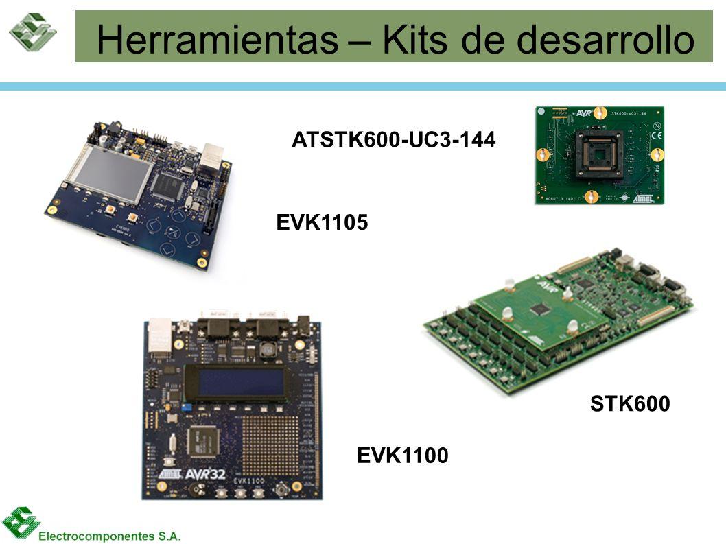 Herramientas – Kits de desarrollo STK600 EVK1100 EVK1105 ATSTK600-UC3-144