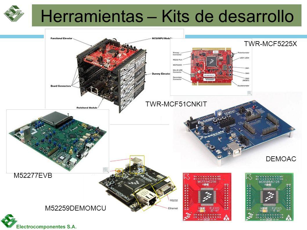 Herramientas – Kits de desarrollo M52259DEMOMCU DEMOAC TWR-MCF5225X TWR-MCF51CNKIT M52277EVB
