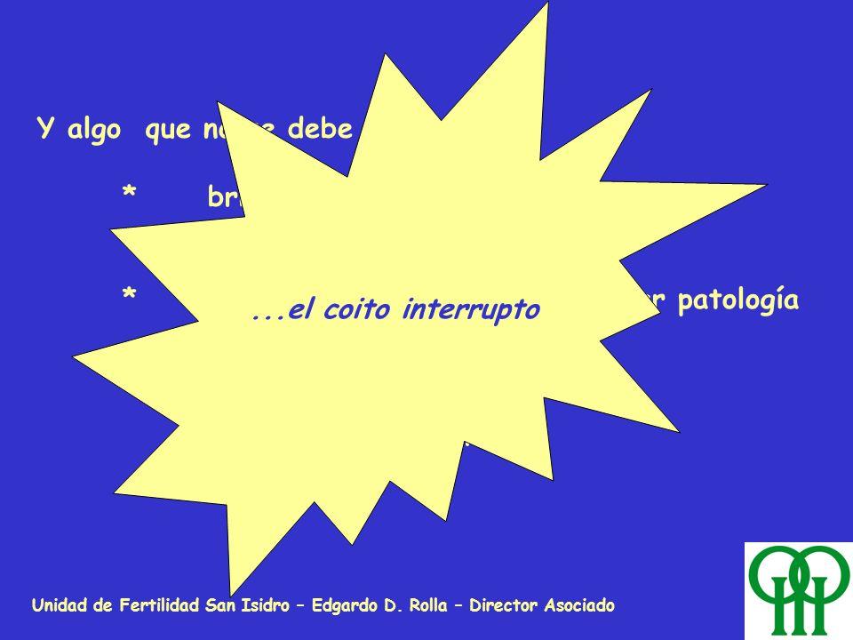 Unidad de Fertilidad San Isidro – Edgardo D. Rolla – Director Asociado Y algo que no se debe usar porque: *brinda baja calidad de protección contracep
