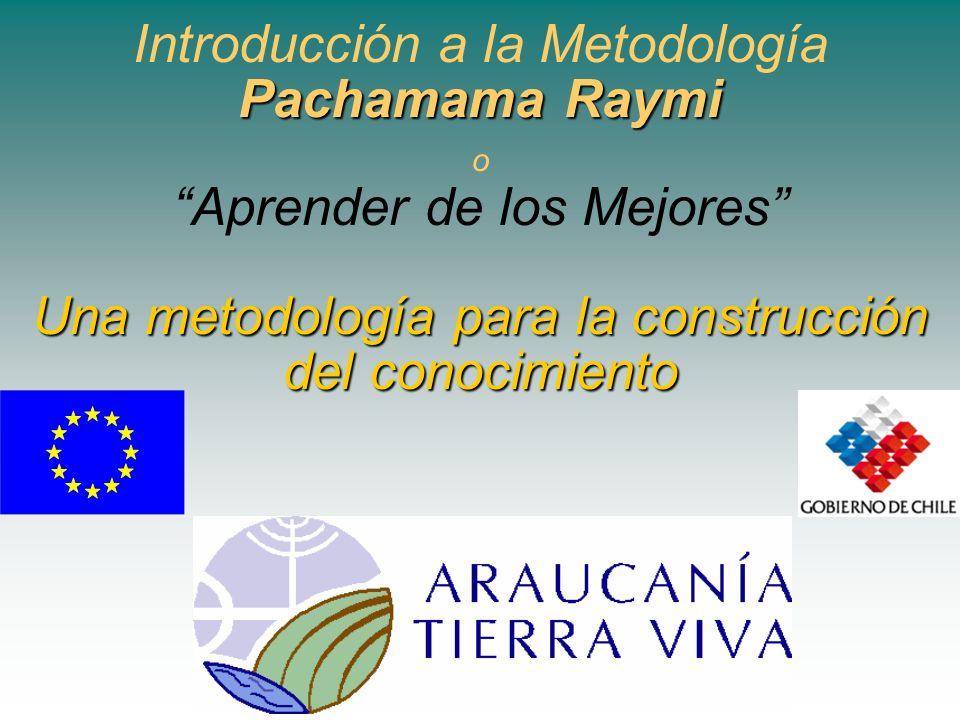 Pachamama Raymi Una metodología para la construcción del conocimiento Introducción a la Metodología Pachamama Raymi o Aprender de los Mejores Una meto