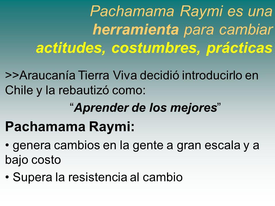 Pachamama Raymi es una herramienta para cambiar actitudes, costumbres, prácticas >>Araucanía Tierra Viva decidió introducirlo en Chile y la rebautizó