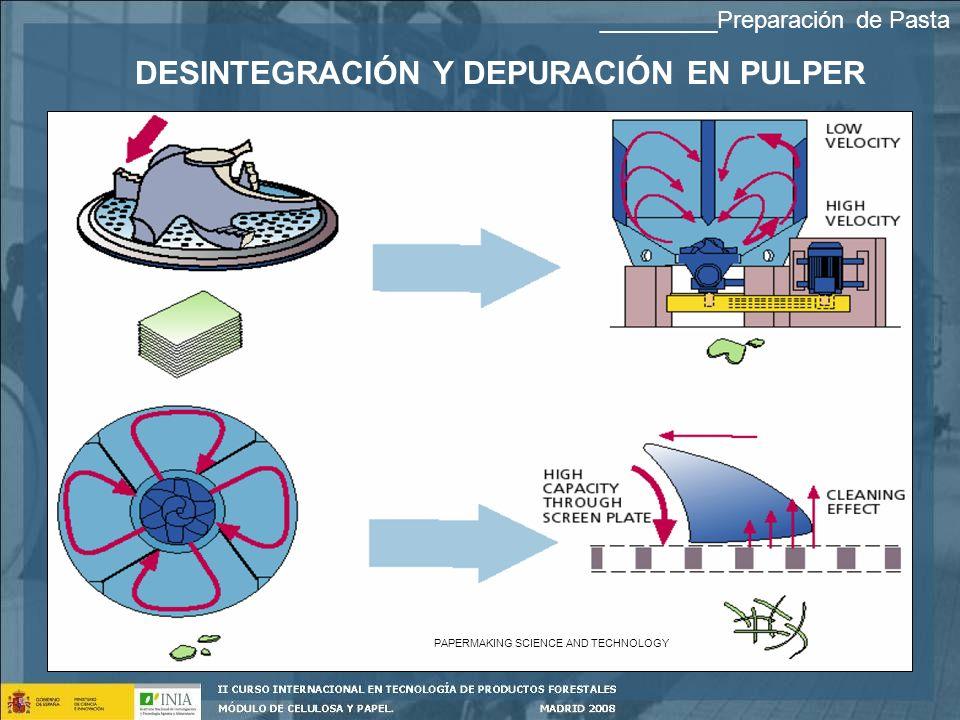 DESINTEGRACIÓN Y DEPURACIÓN EN PULPER PAPERMAKING SCIENCE AND TECHNOLOGY