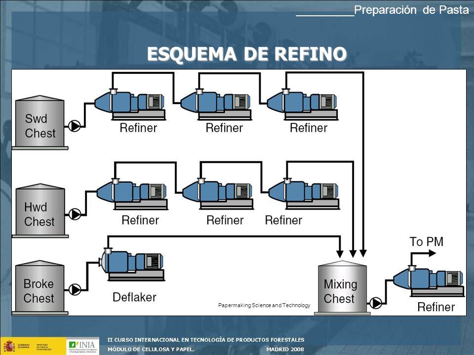 ESQUEMA DE REFINO Papermaking Science and Technology _________Preparación de Pasta