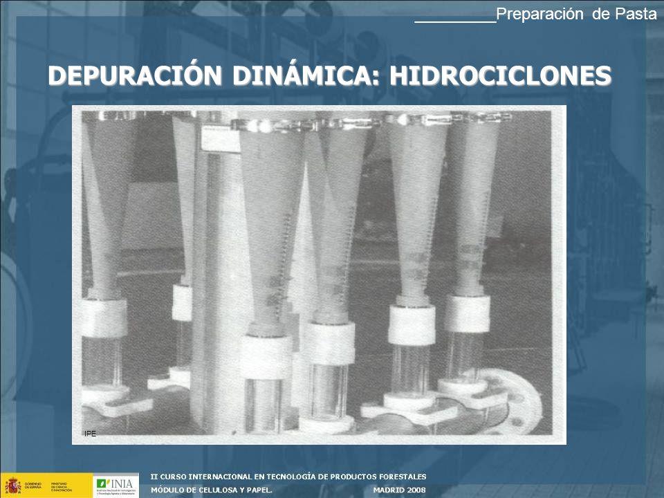 DEPURACIÓN DINÁMICA: HIDROCICLONES IPE _________Preparación de Pasta