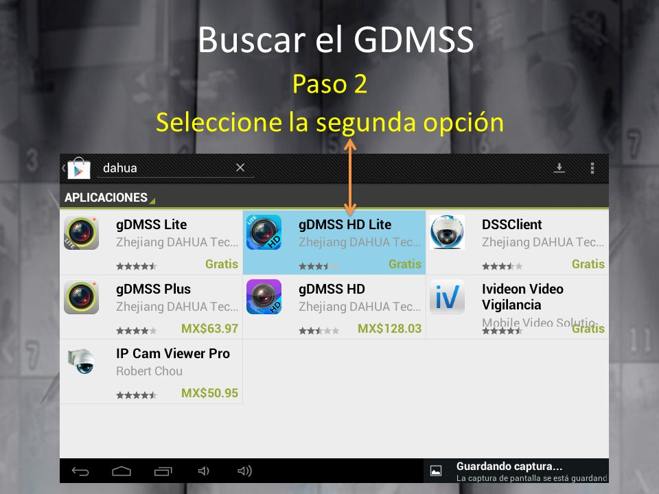 Buscar el GDMSS Paso 2 Seleccione la segunda opción