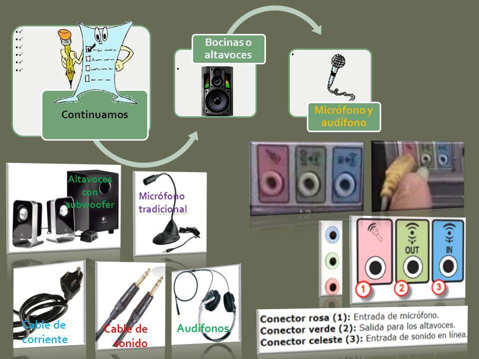 Altavoces con subwoofer Cable de sonido Cable de corriente Audífonos Micrófono tradicional