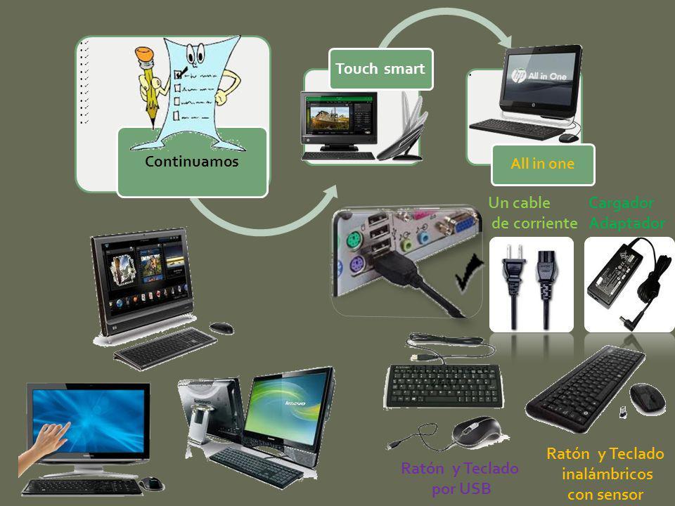Ratón y Teclado por USB Ratón y Teclado inalámbricos con sensor Un cable de corriente Cargador Adaptador
