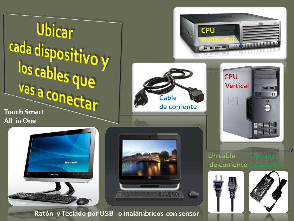 Cable de corriente CPU Vertical CPU Horizontal Touch Smart All in One Ratón y Teclado por USB o inalámbricos con sensor Un cable de corriente Cargador