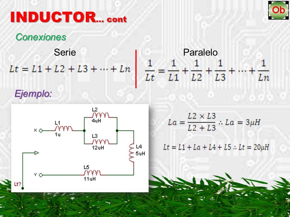 Conexiones Serie Paralelo INDUCTOR … cont Ejemplo: