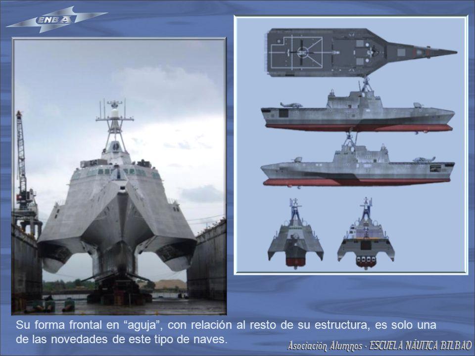 Su forma frontal en aguja, con relación al resto de su estructura, es solo una de las novedades de este tipo de naves.