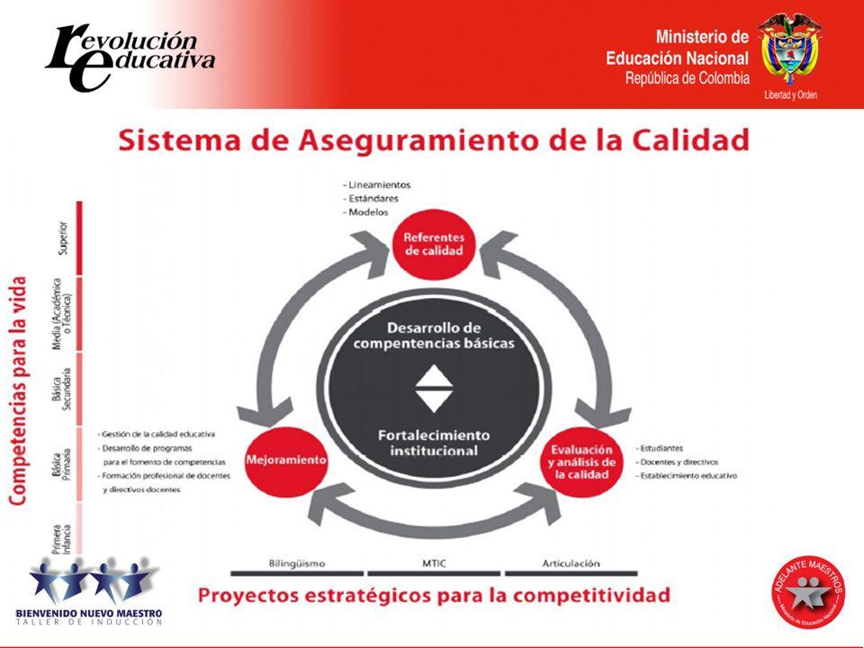 EVALUACIÓN Evaluación de estudiantes Evaluación de docentes y directivos docentes Evaluación institucional Sistema Nacional de Evaluación Art.