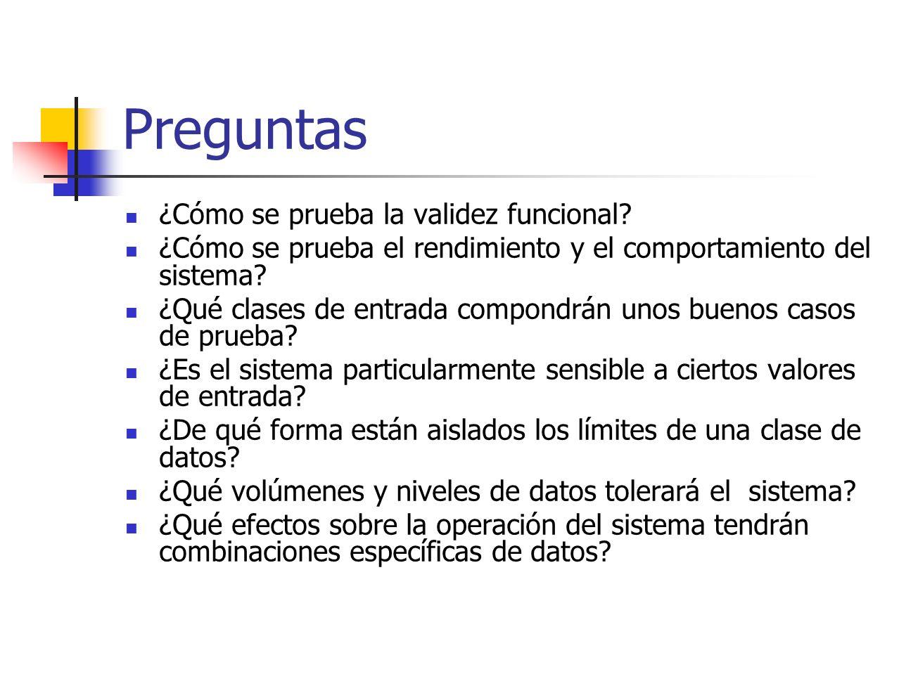 Partición equivalente La partición equivalente es un método de prueba de caja negra que divide el campo de entrada de un programa en clases de datos de los que se pueden derivar casos de prueba.