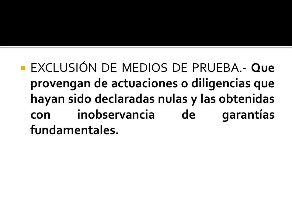 EXCLUSIÓN DE DECLARACIONES DE PERITOS.- Cuando no se otorguen suficientes garantías de seriedad y profesionalismo en el informe o en los títulos del p