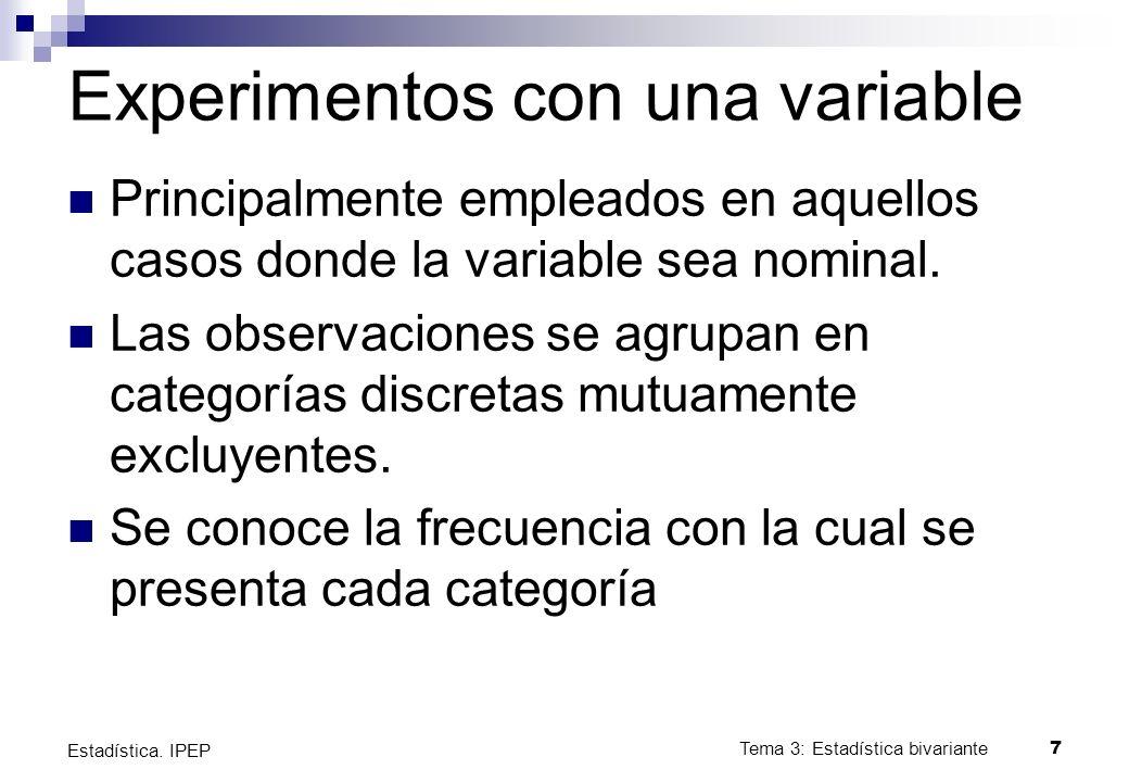 Tema 8: Pruebas no paramétricas18 Estadística.