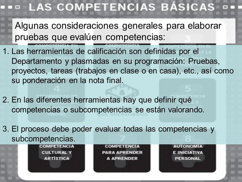 Ejemplo de cómo pueden definirse subcompetencias: Contribución del área de Tecnologías a la adquisición de las competencias básicas Desde el área de Tecnologías se contribuye a la adquisición de las competencias básicas mediante la adquisición, a su vez, de las siguientes subcompetencias.