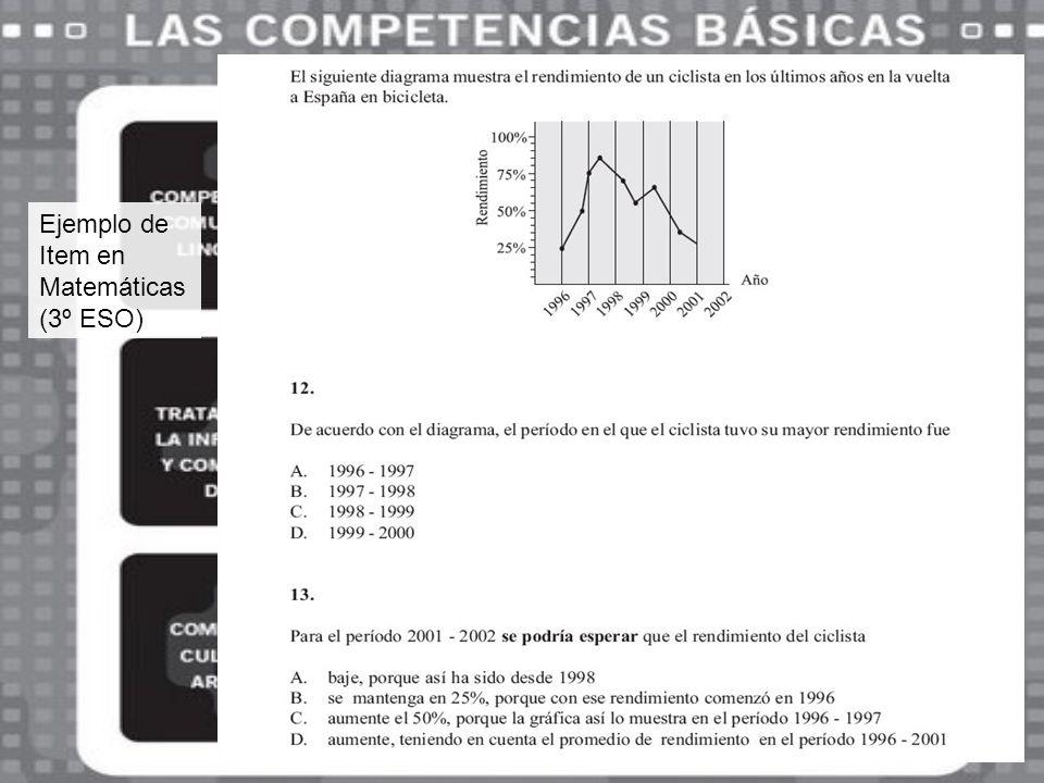 Ejemplo de Item en Matemáticas (3º ESO)
