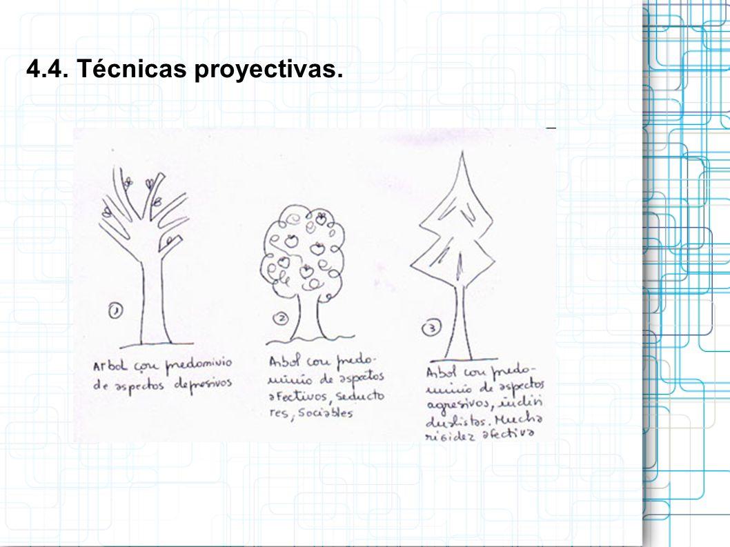 4.4. Técnicas proyectivas.