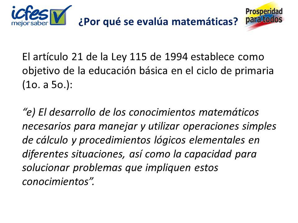 El artículo 21 de la Ley 115 de 1994 establece como objetivo de la educación básica en el ciclo de primaria (1o.