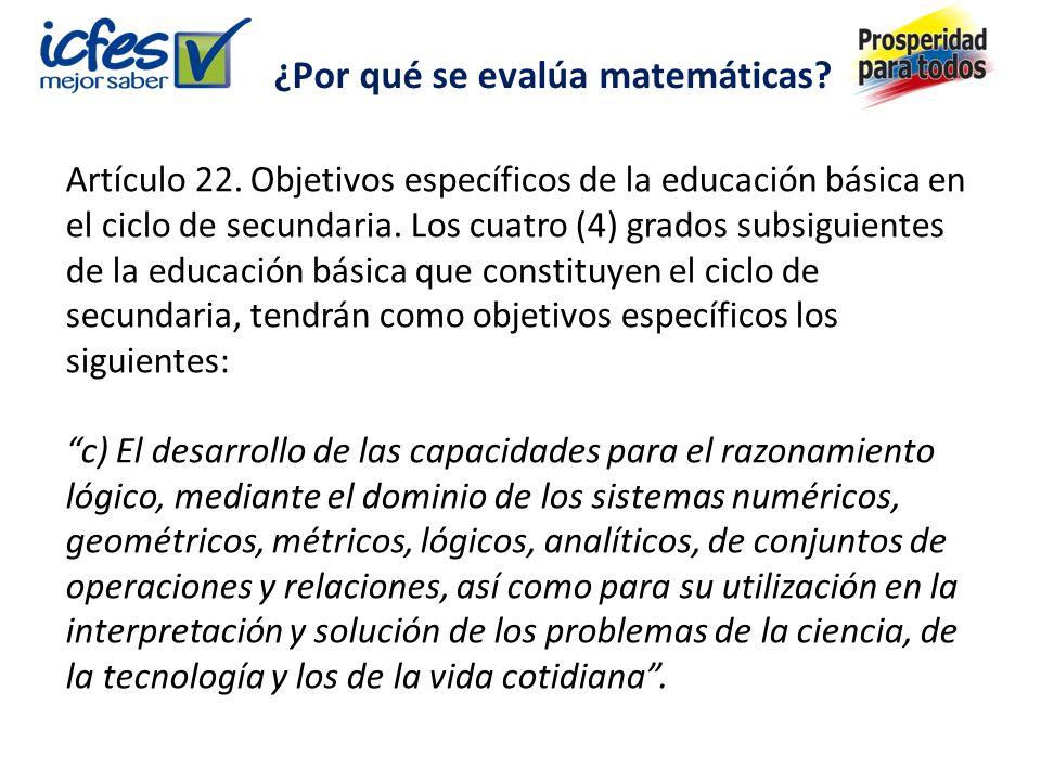 Artículo 22.Objetivos específicos de la educación básica en el ciclo de secundaria.
