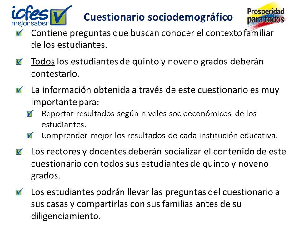 Contiene preguntas que buscan conocer el contexto familiar de los estudiantes.