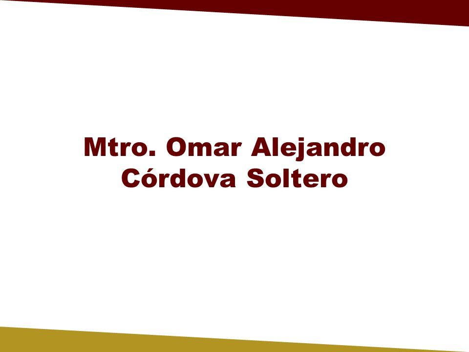Mtro. Omar Alejandro Córdova Soltero