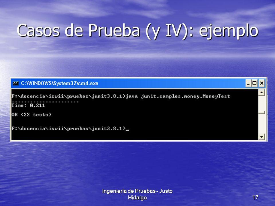 Ingeniería de Pruebas - Justo Hidalgo17 Casos de Prueba (y IV): ejemplo