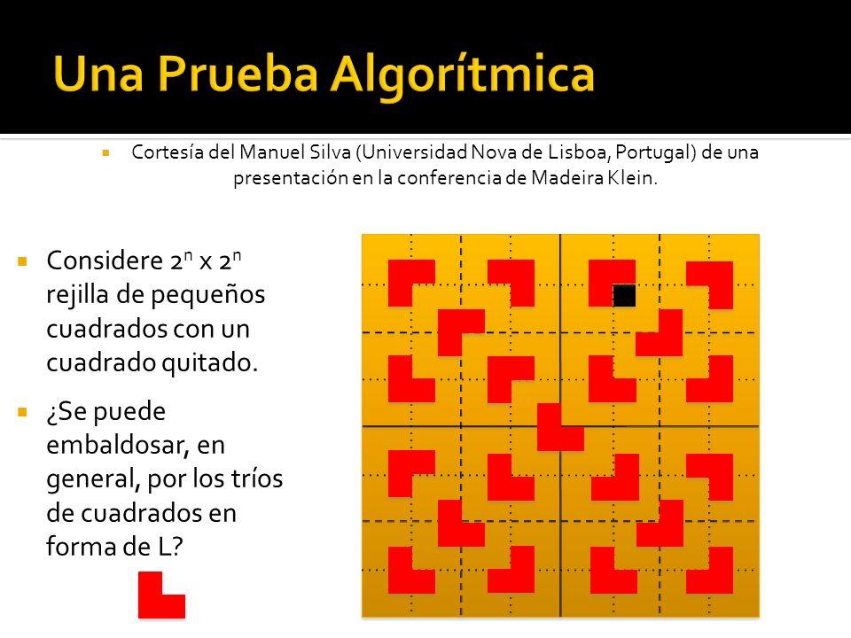 Cortesía del Manuel Silva (Universidad Nova de Lisboa, Portugal) de una presentación en la conferencia de Madeira Klein. Considere 2 n x 2 n rejilla d