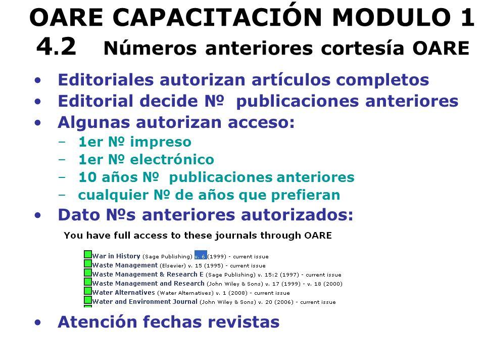 OARE CAPACITACIÓN MODULO 1 4.