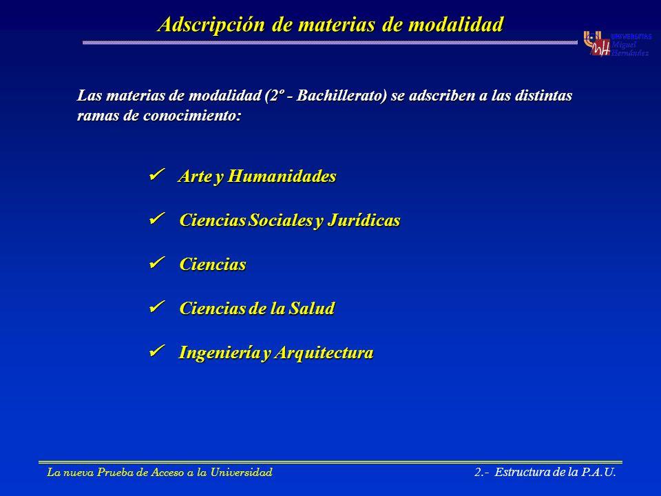 4.- Nota de admisión a la Universidad La nueva Prueba de Acceso a la Universidad 4.- Nota de admisión a la Universidad La nota final de admisión dependerá del grado (titulación) elegida: Ejemplo: alumno que se presenta a la fase específica, N.M.B., 8,37 a) Si para el grado en Ingeniería Química a = 0,2 y b = 0,1: b) Si para el grado en Química a = 0,2 y b = 0,2: