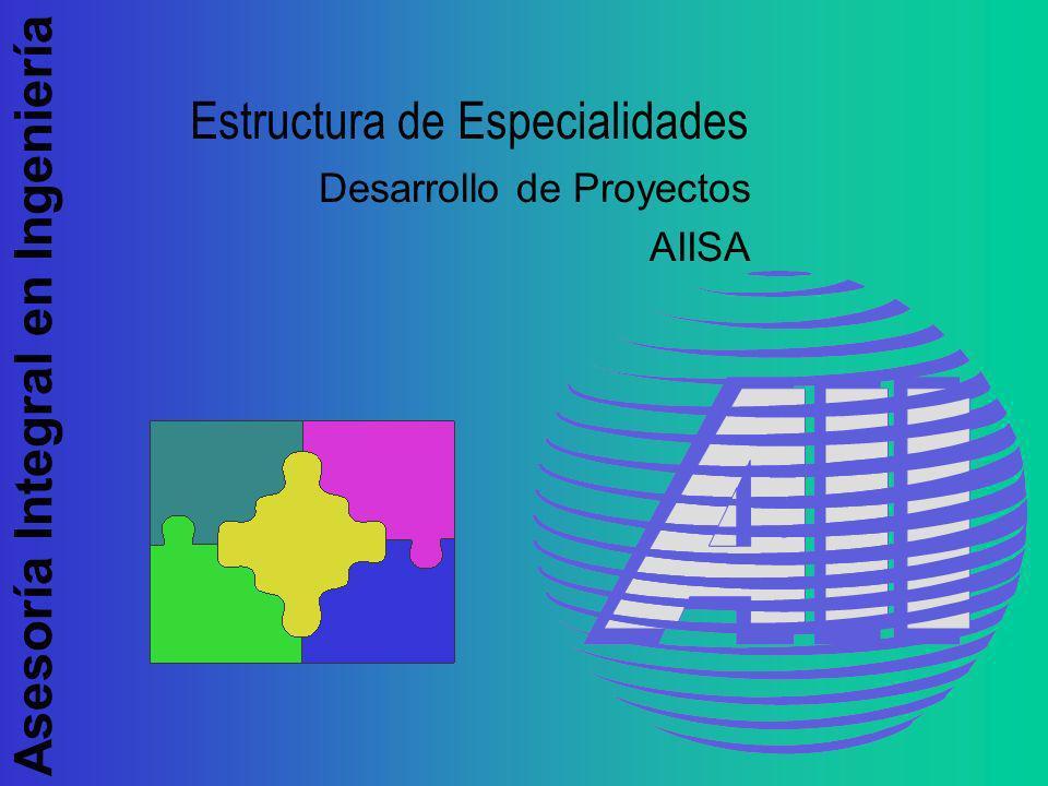 Asesoría Integral en Ingeniería Estructura de Especialidades Desarrollo de Proyectos AIISA