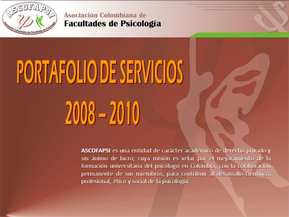 CÁTEDRA COLOMBIANA DE PSICOLOGÍA MERCEDES RODRIGO En la Asamblea de Ascofapsi del 2005, se aprueba la creación de la Cátedra Colombiana de Psicología Mercedes Rodrigo.