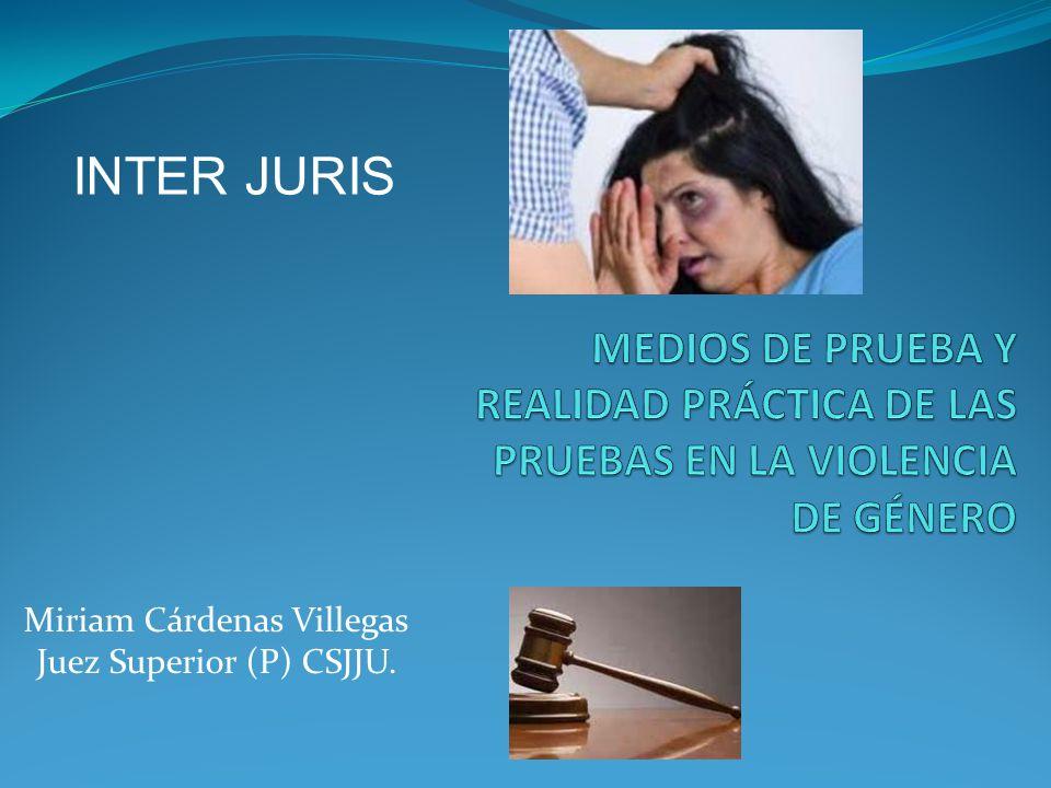 Miriam Cárdenas Villegas Juez Superior (P) CSJJU. INTER JURIS