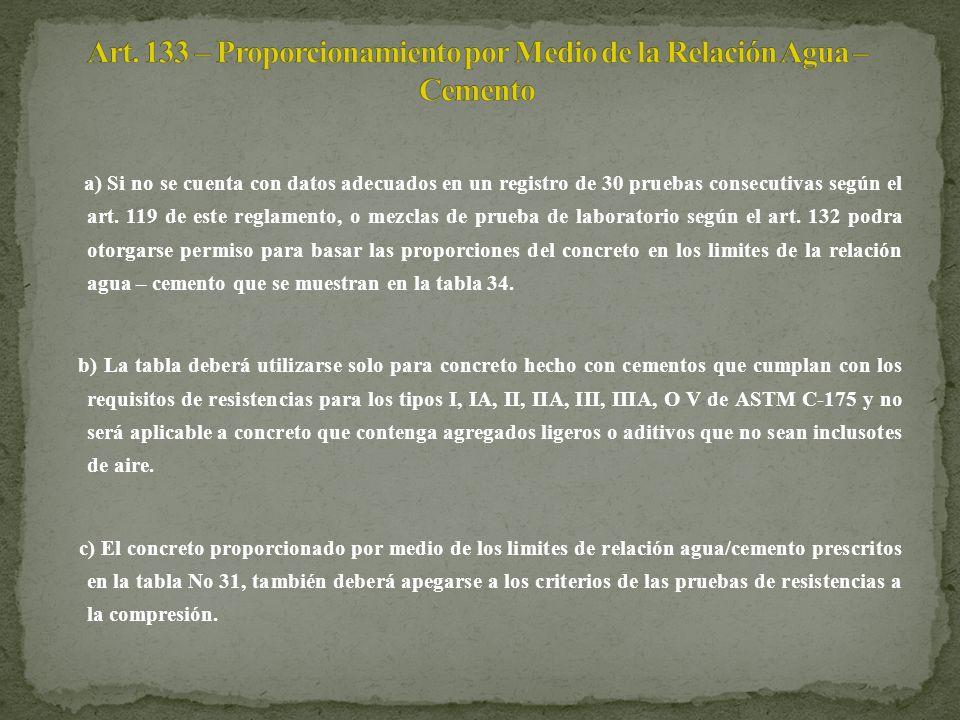 a) Si no se cuenta con datos adecuados en un registro de 30 pruebas consecutivas según el art. 119 de este reglamento, o mezclas de prueba de laborato