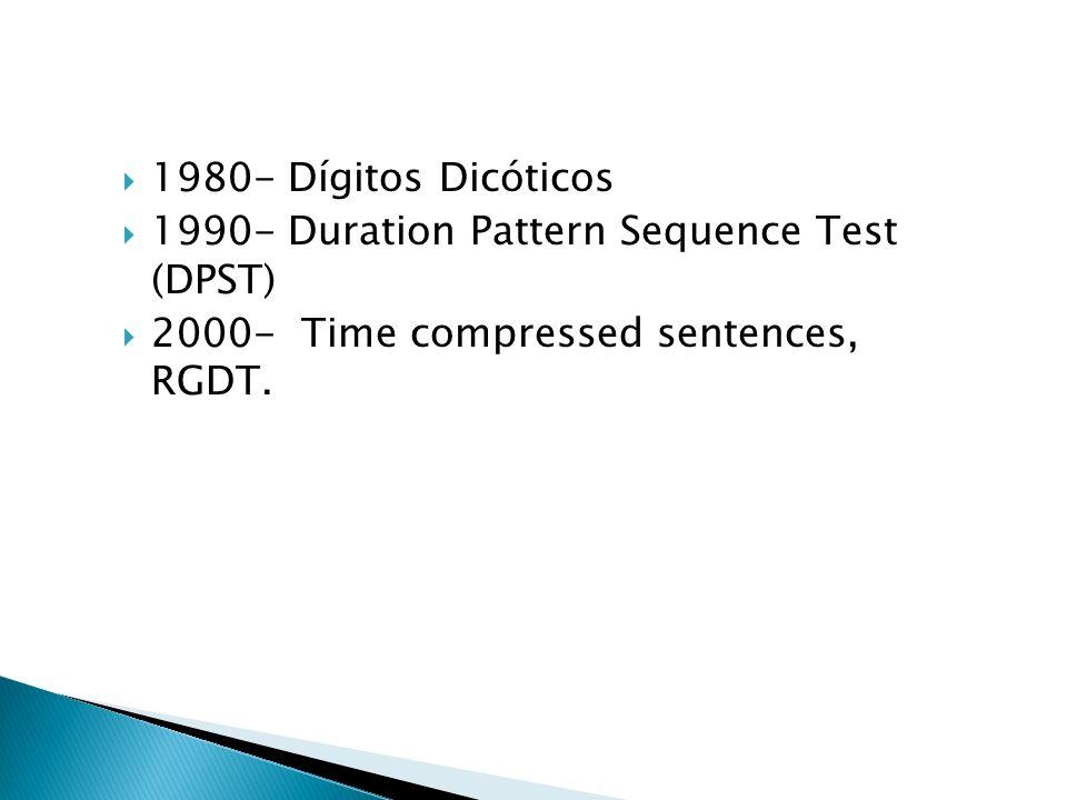 Habla en Ruido -Presentación de listas de monosílabos combinados con ruido de banda ancha, presentado ipsi-lateralmente con un S/NR de +10dB y 0dB.