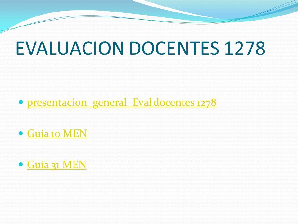 EVALUACION DOCENTES 1278 presentacion_general_Eval docentes 1278 Guía 10 MEN Guía 31 MEN