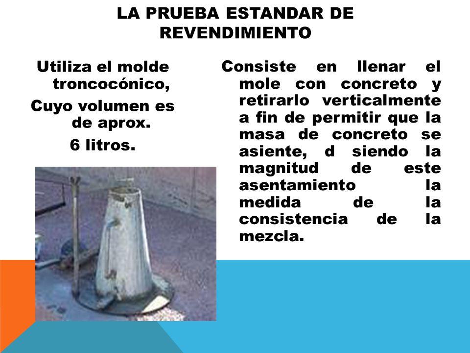 ES IMPORTANTE MENCIONAR QUE TRATÁNDOSE DE MEZCLAS MUY FLUIDAS EL ASENTAMIENTO DE LA MASA SE CONVIERTE PRÁCTICAMENTE EN UN COLAPSO.
