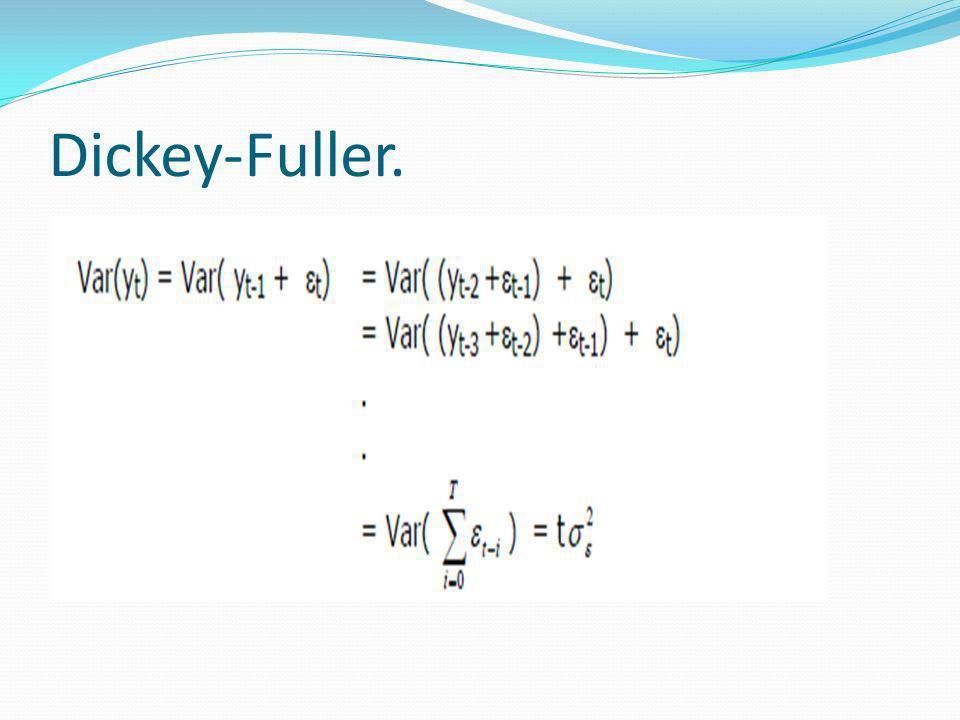 Dickey-Fuller.
