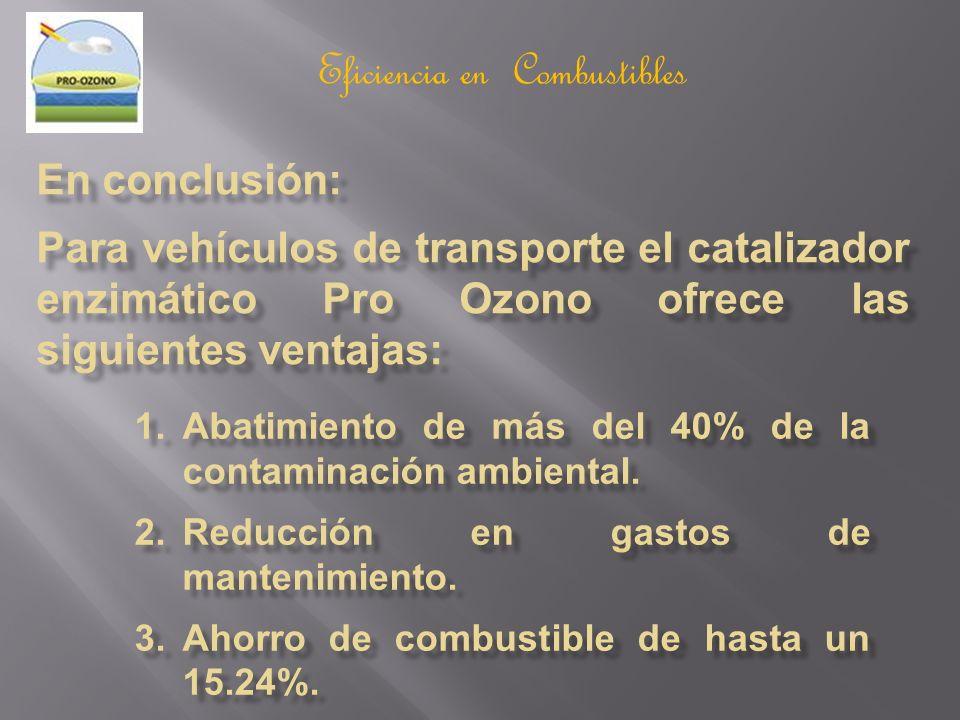 Eficiencia en Combustibles