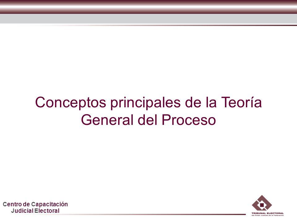 Centro de Capacitación Judicial Electoral Conceptos principales de la Teoría General del Proceso