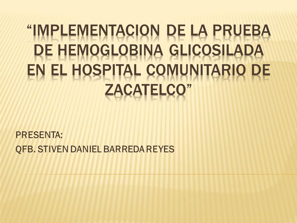 PRESENTA: QFB. STIVEN DANIEL BARREDA REYES