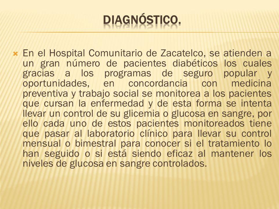 En el Hospital Comunitario de Zacatelco, se atienden a un gran número de pacientes diabéticos los cuales gracias a los programas de seguro popular y o