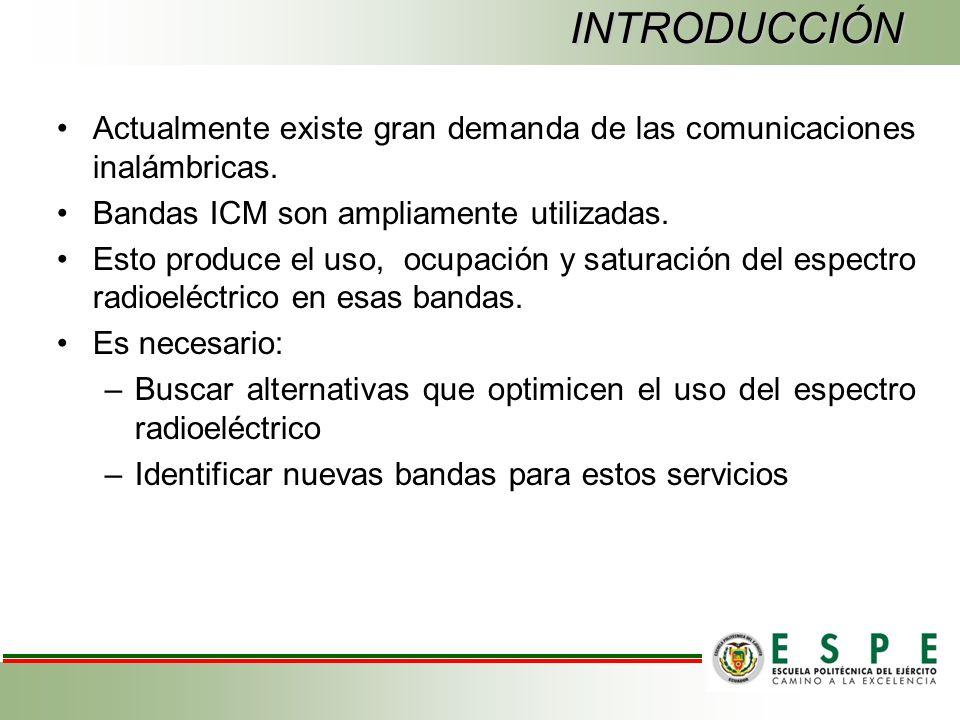 INTRODUCCIÓN Actualmente existe gran demanda de las comunicaciones inalámbricas.